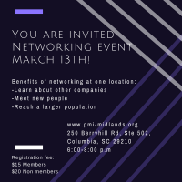 PMI Midlands Networking Event - March 13, 2018